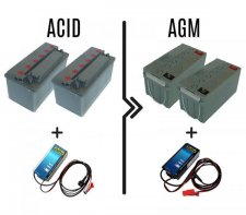Upgrade to 50/70A AGM batteries