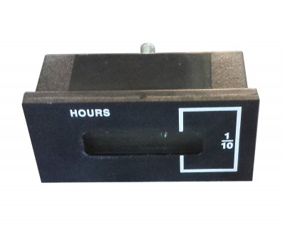 Assembled hour meter