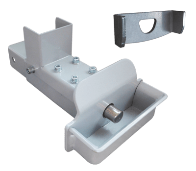 Hitch for steel coupling with electromagnetic lock